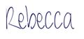 Rebecca's signature